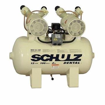 Imagen de Compresor Odontologico 2 Cabezal 1hp 100lts Schulz Msv12/100