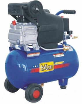 Imagen de Compresor Aire Comprimido Motor 2hp Tanque De 24lts Bta