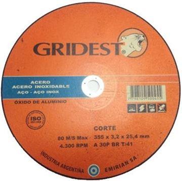 Imagen de Disco Corte Metal Sensitiva 12 Pulad 3.2mm Gridest Argentina