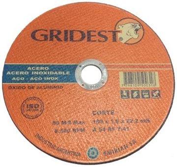 """Imagen de Disco Corte Metal 7"""" x 1.6mm Gridest"""