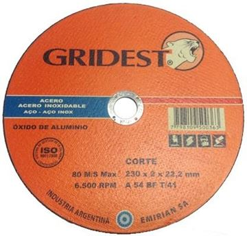 Imagen de Caja 35 Discos Corte Metal 9 Pulgadas 2mm Gridest Argentina