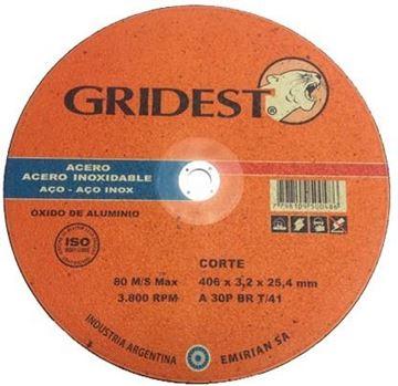 Imagen de Caja 15 Discos Corte Metal Sensitiva 16 Pulga. 3.2mm Gridest