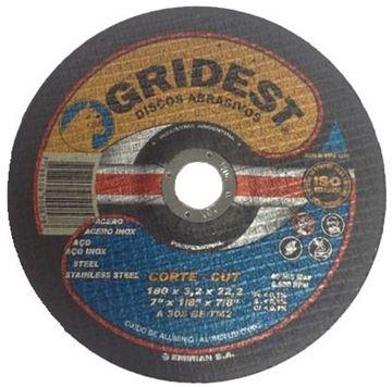 Imagen de Disco De Corte Metal 7 Pulgadas 3.2mm Gridest Argentina