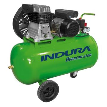 Imagen de Compresor De Aire Comprimido 2hp 100lts Indura Huracan 2100