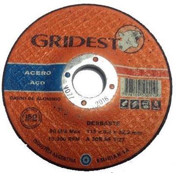 Imagen de caja 48 Discos Desbaste Metal 4.5pulg. 6.4mm Gridest