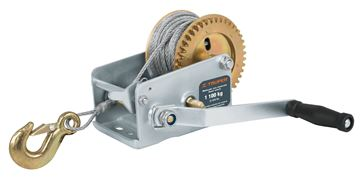 Imagen de Malacate a manija c/cable (L:9mt)1100kg TRUPER MAW-91C