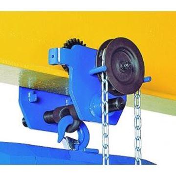 Imagen de Carro traslación empuje 1 ton aparejos elev. 3mts TRACTEL