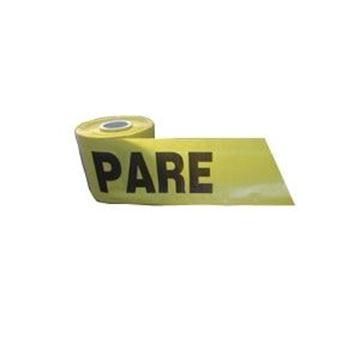 Imagen de Cinta amarilla PARE 20cm bobina 54mt/kg (venta x múltiplo 10kg)
