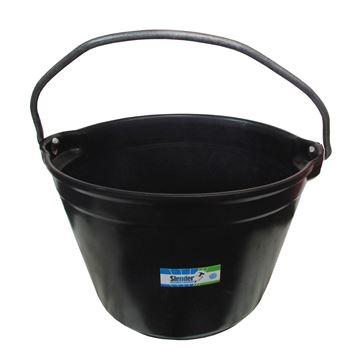 Imagen de Balde negro de PVC, reforzado para construcción SLENDER