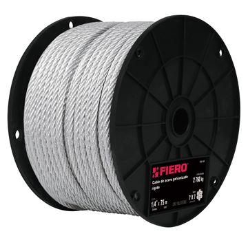 Imagen de Cable Acero galvanizado 1/16 pulgada 7x7 rollo 75mt FIERO