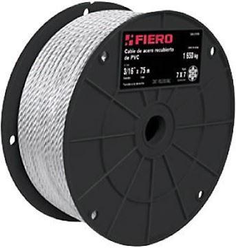 """Imagen de Cable acero forrado pvc 3/16"""" 7x19 rollo 75mt FIERO (precio por metro)"""
