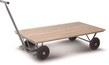 Imagen de Carro carga 4 ruedas piso madera 150x80x39cm 800kg CMB 401