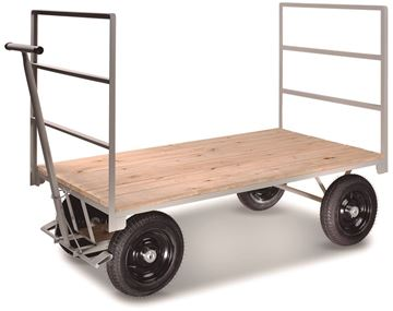 Imagen de Carro carga 4 ruedas piso madera 150x80x46cm 800kg CMB 362