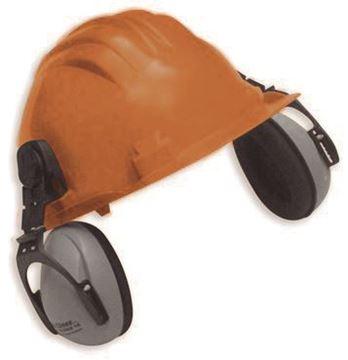 Imagen de Casco 5RG naranja (UNIT 687-83) c/prot. auditivo CLIMAX 5-P