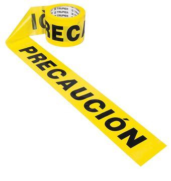 Imagen de Cinta amarilla leyenda PRECAUCION 90mt TRUPER BAN-PRE-300