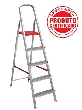 Imagen de Escalera aluminio 4 escalones 1.42mt BOTAFOGO ESC0063
