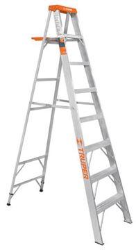 Imagen de Escalera aluminio c/bandeja 8 escalones 2.44mt TRUPER EST-27