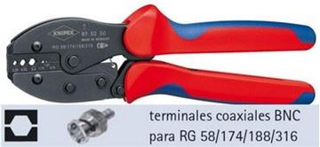 "Imagen de A.Cri-p/terminales coaxiales(RG58/174/188/316)""KNIPEX""975250"
