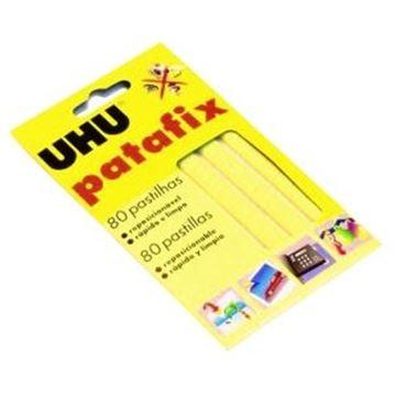 Imagen de Masilla adhesiva TAC-PATAFIX Blanco Blister 80 unidades UHU