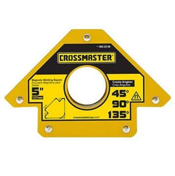"""Imagen de Escuadra Magnética para soldar ángulos 5"""" 34kg Crossmaster"""