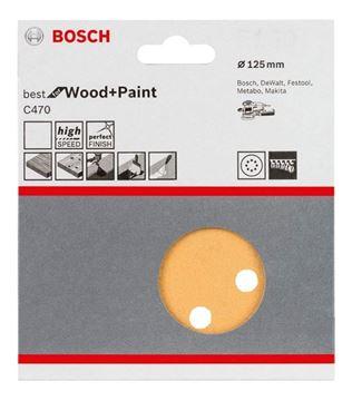 Imagen de Disco lija para lijadora excéntrica 125mm (5un) gr.240 Bosch