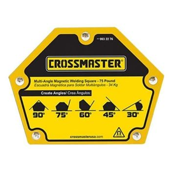 Imagen de Escuadra Magnética para Soldar multiángulos 22.7kg Crossmaster 9932274